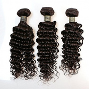 BLISSHAIR 7A Deep Wave Unprocessed Brazilian Plus Virgin Human Hair Wig Weave Bundle for Women Top Grade