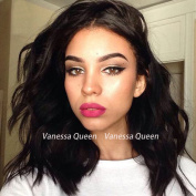 Vanessa Queen #4 Brown Colour Short Bob Wigs Synthetic Lace Front Wig Body Wave Wigs with Baby Hair For Black Women 41cm
