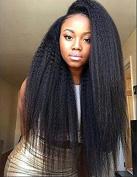 Rongduoyi Glueless Itatian Yaki Straight Full Lace Human Hair Wig for Black Women Natural Looking 100% Real Brazilian Human Hair Full Wigs with Baby Hair 130 Density 60cm #1