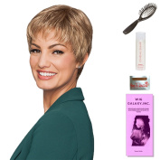 Pixie Perfect (Petite) by Gabor, Wig Galaxy Hair Loss Booklet, 60ml Travel Size Wig Shampoo, Wig Cap, & Loop Brush (Bundle - 5 Items), Colour Chosen