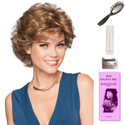 Belle by Gabor, Wig Galaxy Hair Loss Booklet, 60ml Travel Size Wig Shampoo, Wig Cap, & Loop Brush (Bundle - 5 Items), Colour Chosen