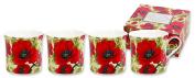 Heath McCabe Princess H/M Poppy (Gift Box of 4), Red, Set of 4