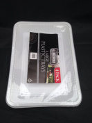 8 x white plastic disposible tray /platter - 29.5cm x 21.5 cm and depth 3 cmfor serving shering and snack