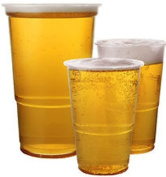 100 x Clear Strong Plastic Pint Cups Disposable Beer Glasses Tumblers
