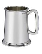 Wentworth Pewter - Plain 1 Pint Heavy Pewter Tankard, Beer Mug
