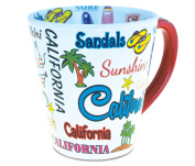 Puzzled 350ml California Style 350ml California Style Latte Mug - Famous Sites Theme - Unique Gift and Souvenir - Item #9112