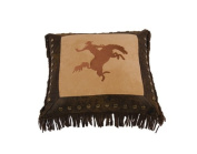 HiEnd Accents Embroidered Bronco Rider Western Pillow