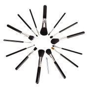 Maquita 15 Pcs Premium Synthetic Kabuki Makeup Brush Set Cosmetics Foundation Blending Blush Eyeliner Face Powder Brush Makeup Brush Kit