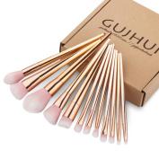 Kwok Brush,12PCS Make Up Foundation Eyebrow Eyeliner Blush Cosmetic Concealer Brushes