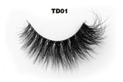 Invisible Transparent Band 3D Mink Fur Fake Eyelashes Women's Makeup False Lashes Hand-made Mink Lash 1 Pair Pack