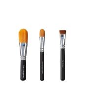 VEGAN LOVE Total Coverage Face Ultimate Concealer Brush Trio, Flat Shader