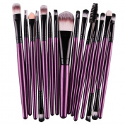 Makeup Brush,morecome 15 pcs/Sets Eye Shadow Foundation makeup brush