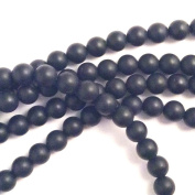 Imagine If…Black Onyx 6mm Round Smooth Matte Colour Gorgeous Natural Gemstone Round Loose Beads 15""