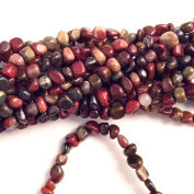 "Imagine If…Poppy Jasper Nuggets Pebbles 4-6mm Beads Gorgeous Natural Gemstone Loose Beads 15"" Strand"