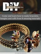 Wire Cuffs, Beaded Bracelet, Beaded Bangles Beading Patterns & Tutorials, Wirewrapping, Wirework Tutorials DiY Jewellery Making Magazine #44