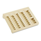 MMF Industries 221611003 - One-Piece Plastic Countex II Coin Tray w/6 Compartments, Sand-MMF221611003
