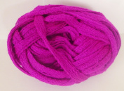 Fancy Neon Magenta Fishnet Weave Bulky Weight Yarn