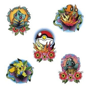 Tattify Pokemon Temporary Tattoos - Pokemon Go (Set of 10) - 2 of Each Style - Premium Quality and Fashionable Temporary Tattoos