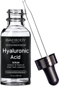 Baebody Hyaluronic Acid Serum for Face, Professional Anti-Ageing Topical Facial Serum w Vitamin C & Vitamin E, Reduces Wrinkles & Fine Lines for Radiant and Younger Looking Skin, 30ml