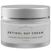 CalilyLife Organic Anti-Ageing Retinol Day Cream with Dead Sea Minerals, 50ml – Non-Greasy, Fast Absorbing – Anti-Wrinkle, Hydrates, Smooths, Regenerates and Strengthens
