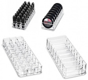 .   Gift Set) Acrylic Lipstick & Acrylic Compact Organiser & Beauty Care Holder Gift Set | byAlegory (Clear) Makeup Organiser