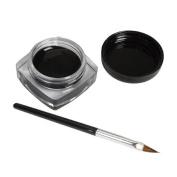 Toraway Pro Waterproof Black Eye Liner Eyeliner Gel Cream With Makeup Brush
