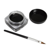 Makeup Brush,Canserin Mini Eyeliner Gel Cream With Brush Makeup Cosmetic Black Waterproof Eye Liner
