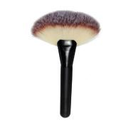 Kinghard Makeup Large Fan Goat Hair Blush Face Powder Foundation Cosmetic Brush