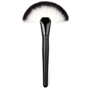 FUNOC 1 pcs Blush Powder Highlighter Makeup Cosmetic Nylon Fibre Large Fan Shaped Brush