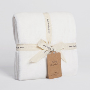 Dual Colour VelvetLoft Baby Blanket, Cream