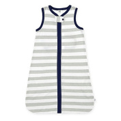Just Born Small Wear A Blanket in Grey Wide Stripes