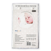 HighFive Easy Cotton Crib Mattress Protector, Waterproof Fitted Sheet