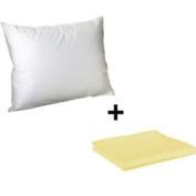 Litaf Toddler Pillow with Pillowcase, Yellow