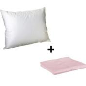 Litaf Toddler Pillow with Pillowcase, Pink