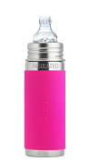 Pura Kiki 9 oz / 260 ml Stainless Steel Insulated Sippy Cup with Silicone XL Sipper Spout & Sleeve, Pink