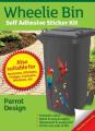 Wheelie Bin Self Adhesive Sticker Kit, Parrots Design