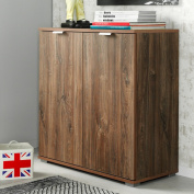 CS Schmal Sideboard Cupboard Cabinet Wooden Large Storage Unit High-Board Shelf - QUALITY MADE IN GERMANY