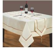 Home Bedding Store Cream Tablecloth 130cm x 130cm Designer Luxury Kensington
