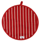 Rushbrookes Butchers Stripe Cook/Chefs Pad Hob Cover, Red - 16160008