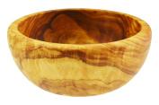 Olive Wood Round Bowl For Salad/Fruit, Grain/Natural
