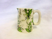 Lilly of the valley mini cream Jug by Heron Cross Pottery