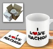 I Love Food Mug and Coaster - Nachos