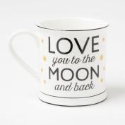 Love You To The Moon & Back Golden Stars Mug