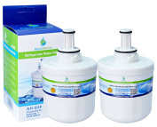 2x AH-S3G Compatible for for for for for Samsung DA29-00003G Water Filter, HAFCU1/XAA, HAFIN2/EXP, DA97-06317A, Aqua-Pure Plus