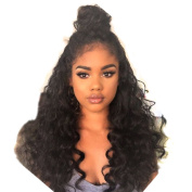 FUHSI Hair Customzied Prepaid Link Loose Curly Wave Lace Front Wig Virgin Hair Glueless Human Hair with Baby Hair For African Americans Customised