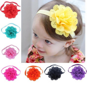 Fullkang 8pcs Baby Girls Flower Headbands Photography Props Headband