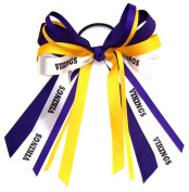 Custom Mascot Multi Streamer Hair Bow, Made in the USA, Pick your Mascot & Colours, Black Pony Band