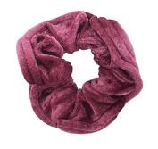 NTL #202 Wineberry Velvet Hair Scrunchies (Regular) Tie Band Ponytail Holder, Hair Scrunchy