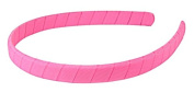 HipGirl Girls Women 5pc 1.3cm Grosgrain Ribbon Wrapped Headbands, Can Be Worn As Is or Add Hair Bows, Flowers