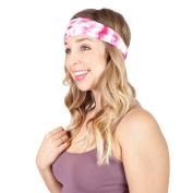 Women's Tie Dye Boho Cotton Active Yoga Travel Headband